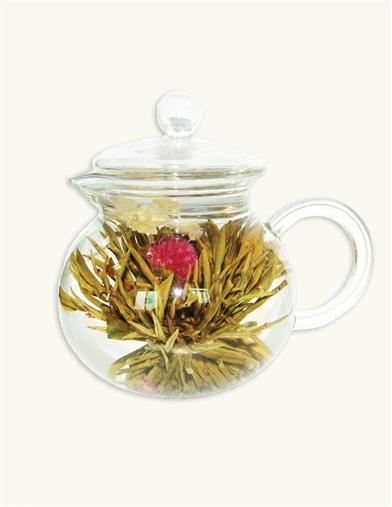 BLOOMING TEAS & GLASS TEAPOT