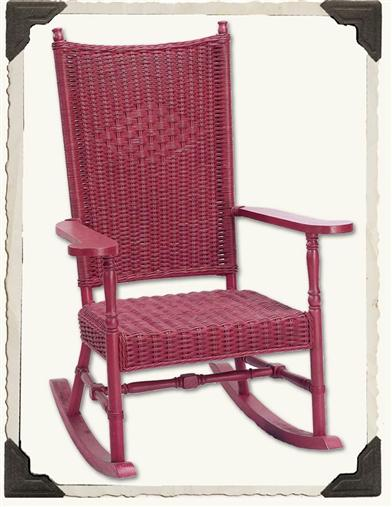 VINEYARD HAVEN WICKER ROCKER