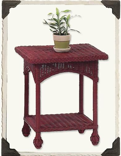VINEYARD HAVEN WICKER TABLE