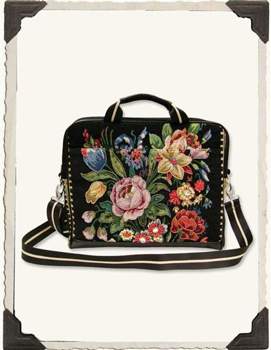 VINTAGE TAPESTRY LAPTOP SATCHEL