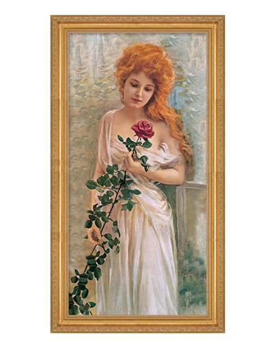 Reverie In The Rose Garden Framed Print