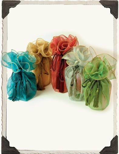 SHIMMERY ORGANZA BAGS (SET OF 5)