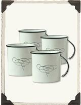 Tea Decanter Mugs (Set Of 4)