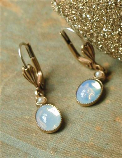 EDWARDIAN MOONSTONE EARRINGS
