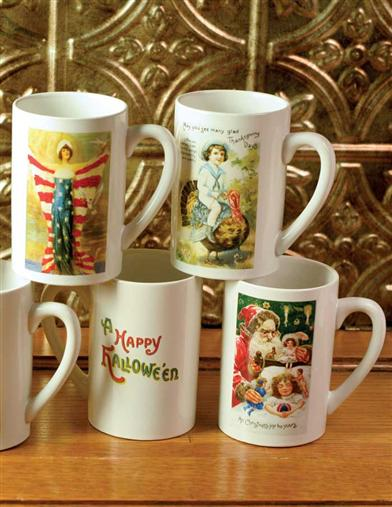 A YEAR OF HOLIDAY MUGS (SET OF 8)