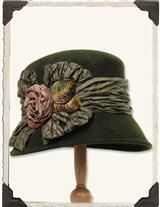 LOUISE GREEN RENAISSANCE ROSE HAT