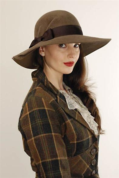 1940s Hats History Louise Green Lady Pendleton Brim $199.95 AT vintagedancer.com