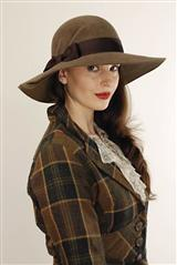 LOUISE GREEN LADY PENDLETON BRIM