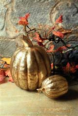 CINDERELLA'S MERCURY GLASS PUMPKINS
