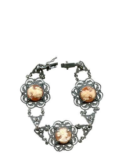 Victorian Jewelry Rings, Earrings, Necklaces, Hair Jewelry Italian Cameo Bracelet $199.95 AT vintagedancer.com