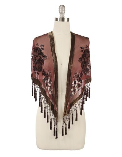 Shawls & Wraps | Vintage Lace & Fur Evening Scarves Silk Brocade Shawl $49.95 AT vintagedancer.com