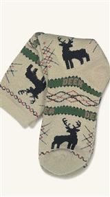 MISTLE-TOES HOLIDAY SOCKS (REINDEER)