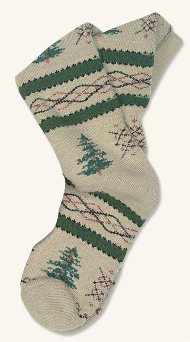 MISTLE-TOES HOLIDAY SOCKS (FIR TREES)