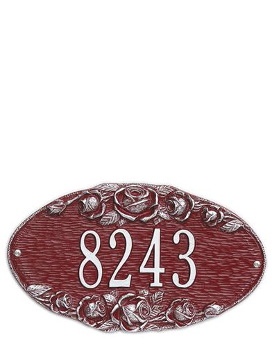 Rose Custom Address Plaque