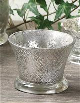 MERCURY VOTIVE CUPS (DIAMOND CUT-PAIR)