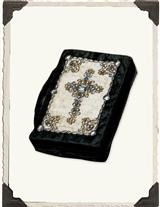 BEADED VELVET & SILK BIBLE COVER (SMALL)