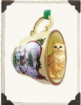 FAVORITE CAT BREED TEACUP ORNAMENT (XMAS)