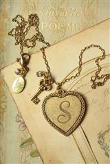 HEART OF GOLD INITIAL NECKLACE