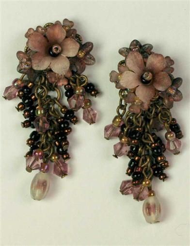 CHOCOLATE RASPBERRY EARRINGS