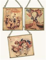 AMERICANA ORNAMENTS (SET OF 3)