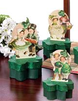GREEN GLITTER CANDY BOXES (SET OF 3)