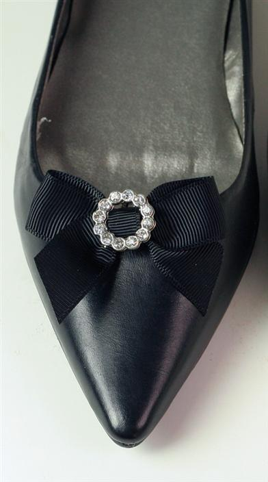 PRIM BLACK BOW SHOE CLIPS