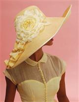 LOUISE GREEN PRIMROSE PICTURE HAT