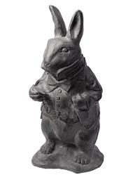 WHITE RABBIT STATUE