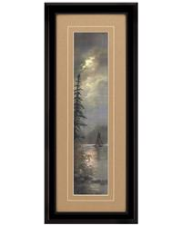 MOONLIT LAKE FRAMED PRINT