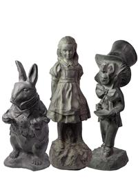 ALICE IN WONDERLAND STATUARY SET