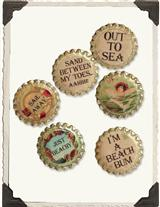 BEACH BOTTLECAP MAGNETS