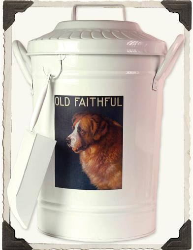 PET FOOD CANISTER (OLD FAITHFUL DOG)