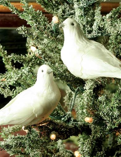 Dove Clip-on Ornaments (Pair)