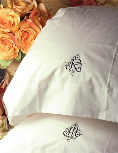 PRETTY MONOGRAMMED PILLOWCASE