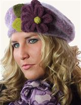 PURPLE FUZZY BERET
