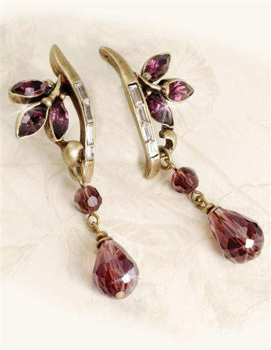 LAVENDER DEW DROP EARRINGS