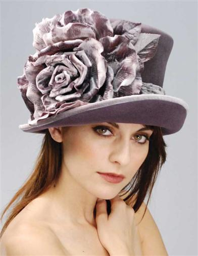 LOUISE GREEN LAVENDER TOP HAT