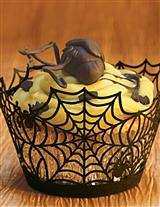SPIDERWEB CUPCAKE WRAPS