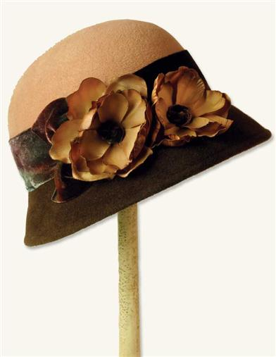 TEA CHOCOLATE WOOL FELT HAT