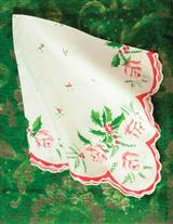 CHRISTMAS ROSE HANKIES (SET OF 3)