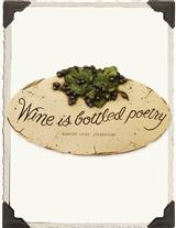 WINE POETRY PLAQUE