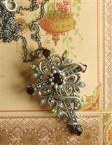 BEAUTY RESURRECTED MARCASITE CROSS PENDANT
