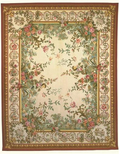 AUBUSSON WOOL RUG 9 x 12             IA