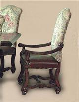 ELIZABETHAN ARM CHAIRS (PAIR)