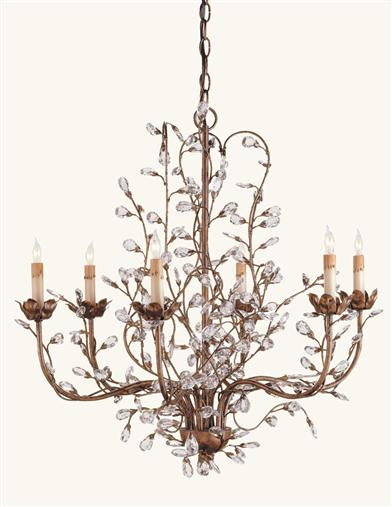 CRYSTAL BUD CHANDELIER