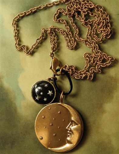 NEW MOON & OLD STARS NECKLACE