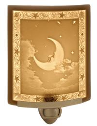 MAN IN THE MOON LITHOPHANE NIGHTLIGHT