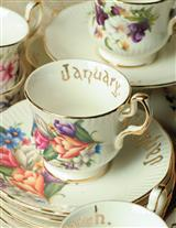 TEACUPS OF THE MONTH/SET OF 12