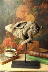 FLEEING HARE STATUE