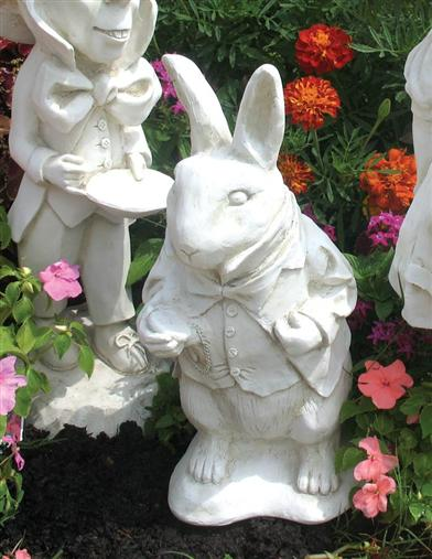 WHITE RABBIT STATUE (WHITE FINISH)